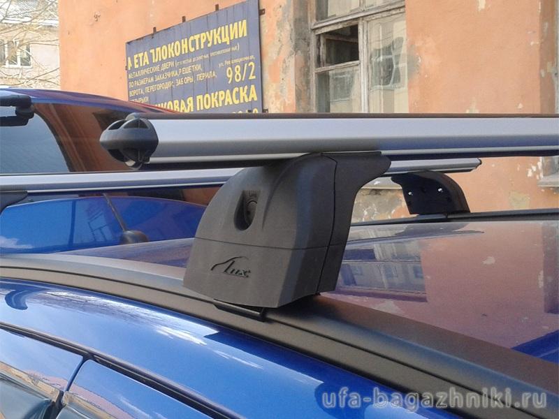 Багажник на крышу BMW X5 F15 2014-..., Lux, аэродинамические дуги (53 мм) на интегрированные рейлинги