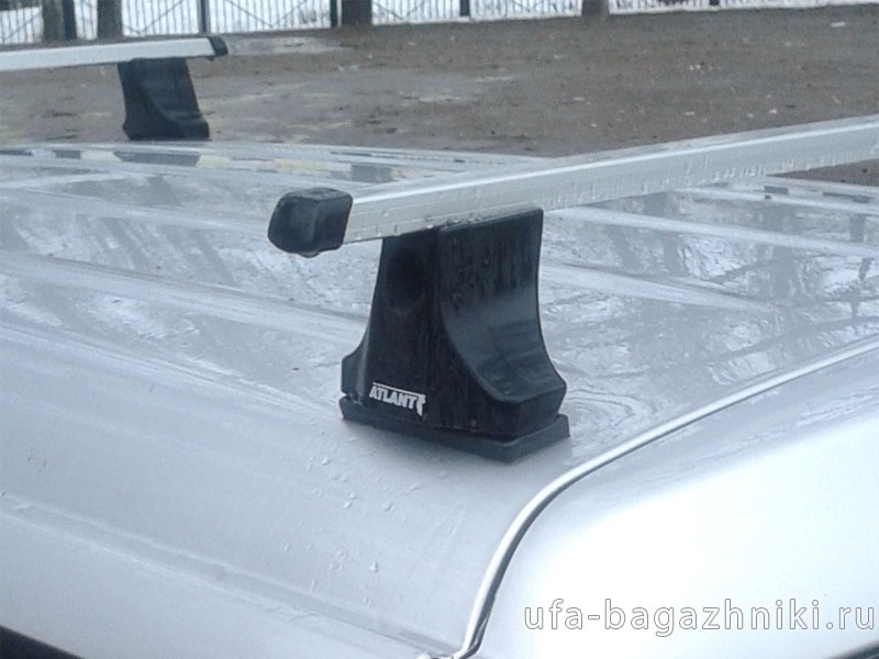 Багажник на крышу Peugeot Partner (2008-...), Атлант, прямоугольные дуги
