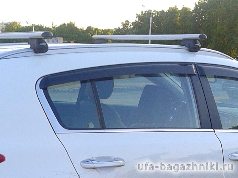 Багажник на крышу Kia Sportage IV с интегрированными рейлингами, Атлант, аэродинамические дуги