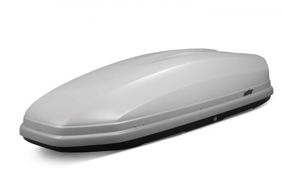 Автомобильный бокс на крышу Koffer A-480, 480 литров, серый матовый
