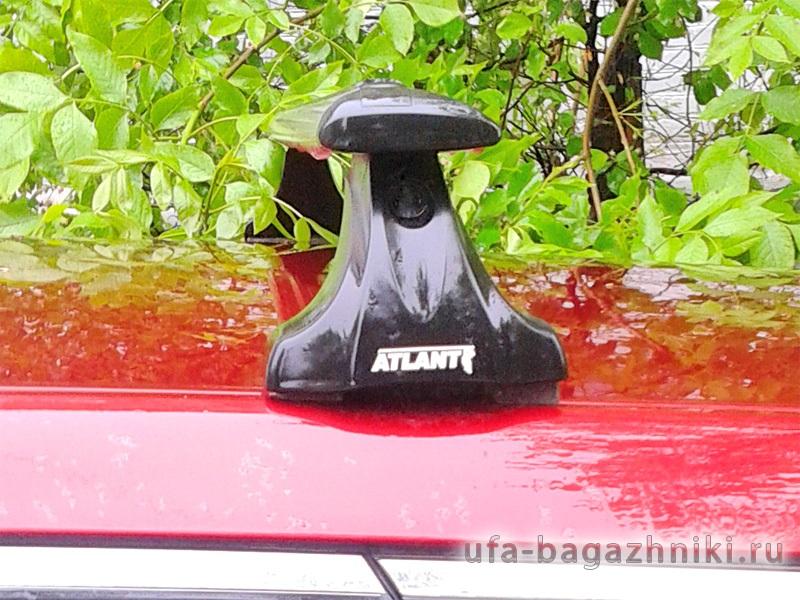 Багажник на крышу Mazda CX-7, Атлант, крыловидные аэродуги