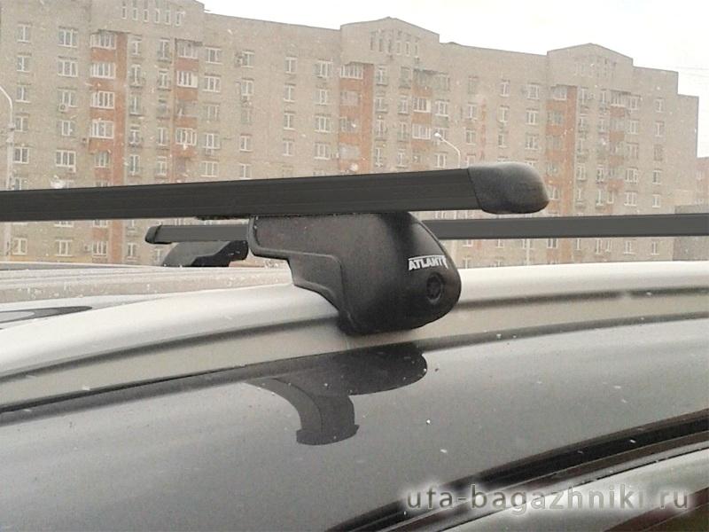 Багажник на интегрированные рейлинги Атлант, стальные прямоугольные дуги