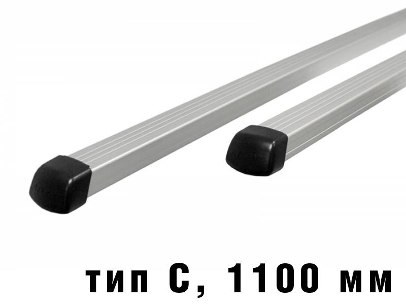 Дуги багажные, алюминиевые, прямоугольный профиль, Атлант - 1100 мм, тип С, артикул 8725