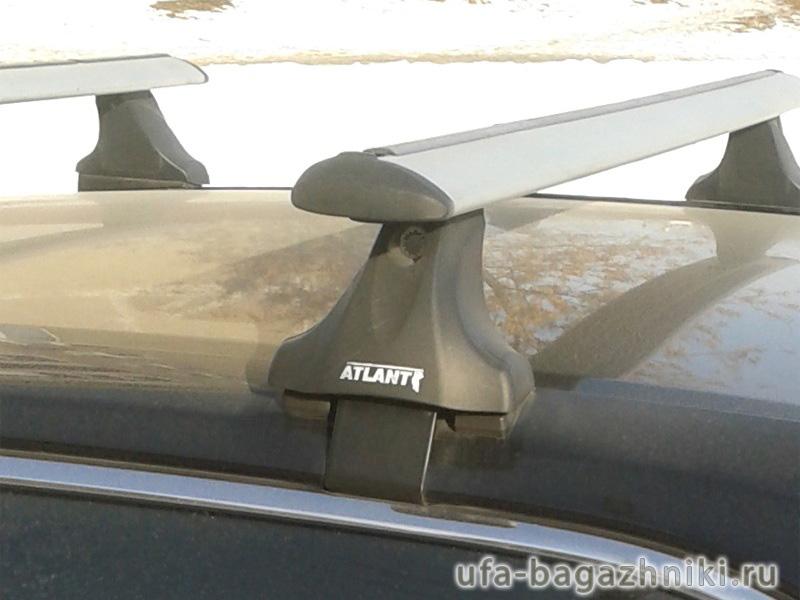 Багажник на крышу Volkswagen Passat B8, Атлант, крыловидные дуги, опора Е