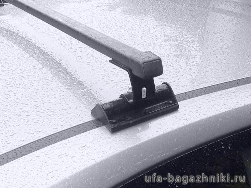 Универсальный багажник на крышу Volkswagen Transporter T5 (2003-16), Муравей С-15 (С15), стальные прямоугольные дуги
