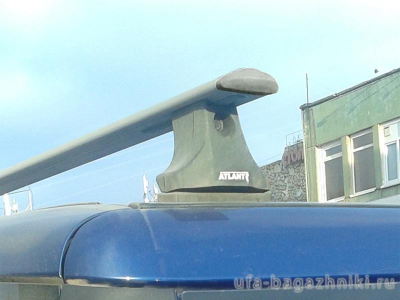 Багажник на крышу Fiat Doblo, Атлант, крыловидные аэродуги